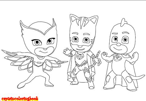 pj masks characters coloring pages disney pj masks coloring pages free download coloring page