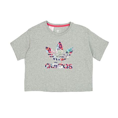 Printed Cropped T Shirt adidas originals t shirts adidas originals j cropped