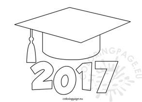 graduation hat template graduation 2017 coloring page coloring page