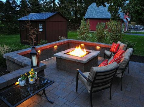 Patio And Firepit Ideas Patio Designs With Pits Lighting Furniture Design