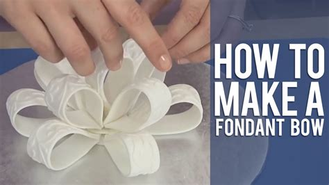 how to make a fondant loop bow youtube