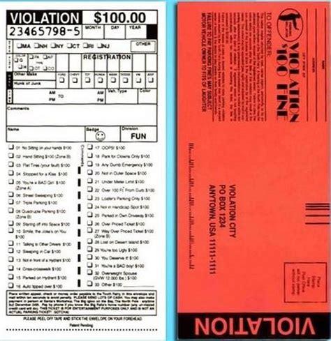 printable joke tickets 10 fake police parking tickets 1 fake million bill ebay