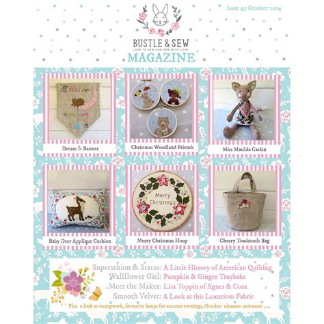Handmade Magazine Back Issues - issue 45 october 2014 bustle sew