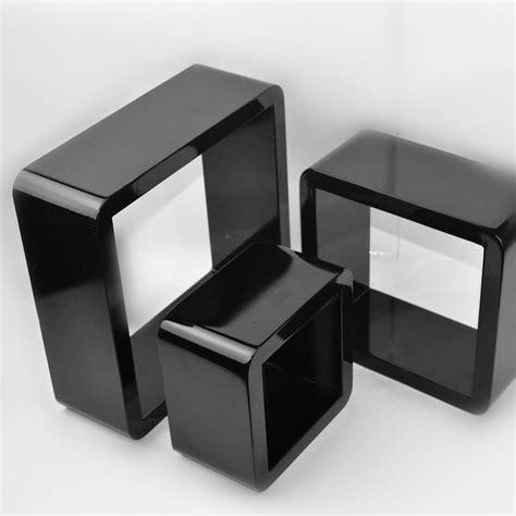 Floating Shelf Bentuk Frame 3 Pcs set of 3 pcs of cube wall shelves mdf shelf corner floating decoration ebay