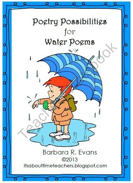 hydration rhymes poetry possibilities for water poems from its about time