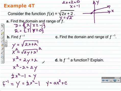 finding the domain and range of a function worksheet find the domain of a function and its inverse algebra 2