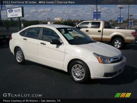 2011 Ford Focus Se by White Suede 2011 Ford Focus Se Sedan Charcoal Black