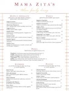 italian cuisine menu italian menus