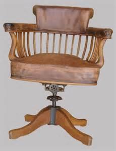 fauteuil de bureau ancien pivotant bois assise ety dossier