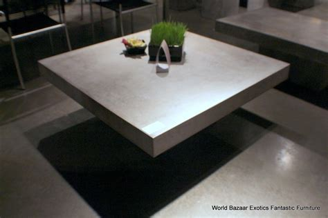 concrete outdoor coffee table 43 quot square coffee table solid concrete slab top cement