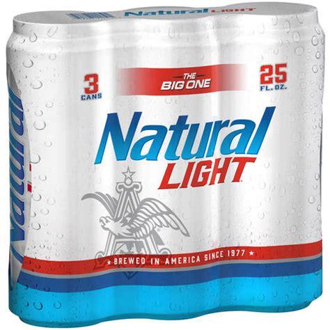 natural light natural light beer 25 fl oz 3 pack walmart com