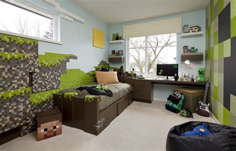 Minecraft Room Decor Ideas Minecraft Kid S Bedroom Minecraft