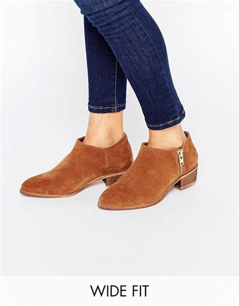 asos asos aldgate wide fit leather ankle boots