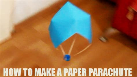 How To Make A Out Of Construction Paper - how to make a paper parachute