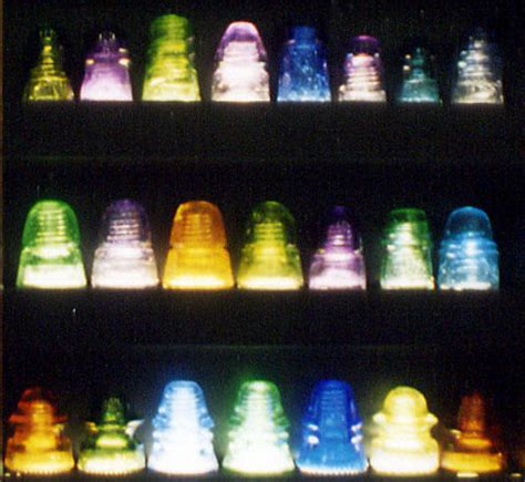 a simple guide to glass insulator collecting books s display of colorful glass insulators i go goofy