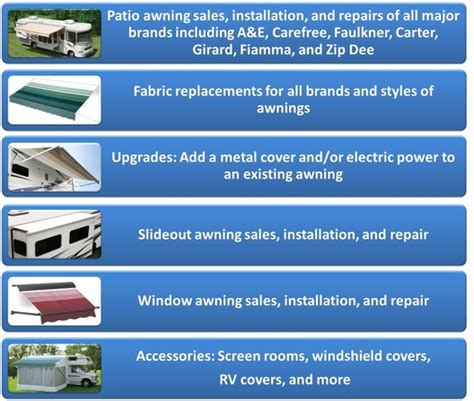 Rv Awning Brands by Mobile Rv Awnings Sales Parts Service Home