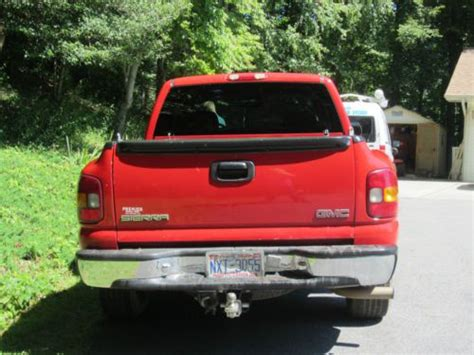 find used one owner excellent gmc sierra sle 1500 red ext cab 4 door long bed 2wd 2000 in sylva