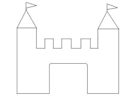 castle template activities for boys crafts coloring make believe and
