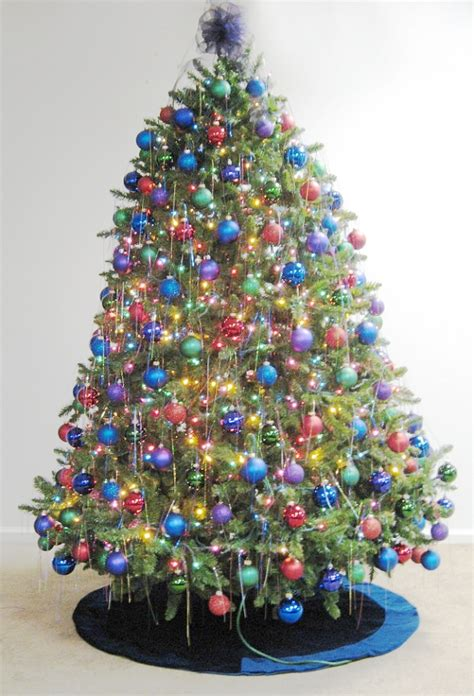 multi color christmas tree decorations decorations let s celebrate