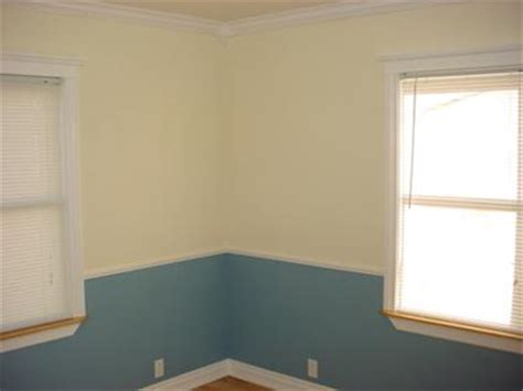 Dining Room Paint Ideas With Chair Rail by Blue And Yellow Walls In My Victorian House