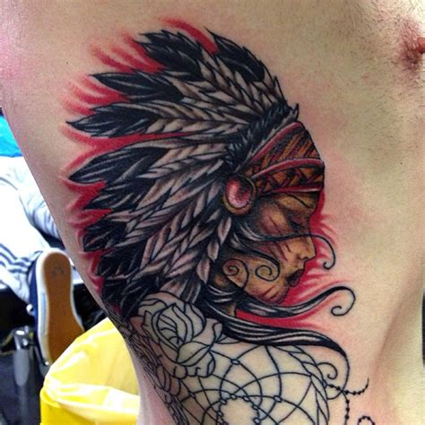 indian tattoo on ribs indian rib start by nevermore ink on deviantart