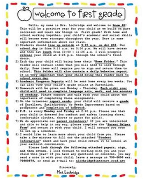Parent Letter Back To School Parent Welcome Letter Welcome Letters And Grade On