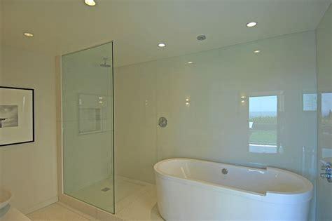 Bathroom Shower Glass Walls Terazzo Bathroom