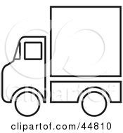 blue christmas service outline royalty free rf clipart illustration of a coloring page outline of a big rig with a blank