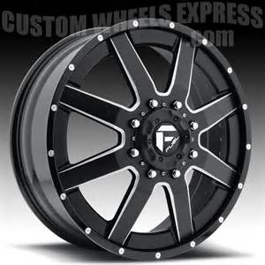 Truck Wheels For Dually Fuel D262 Maverick Dually 2 Pc Matte Black Milled Truck