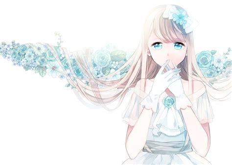 cute anime girl wallpaper tumblr cute anime girl blue wallpaper dreamlovewallpapers