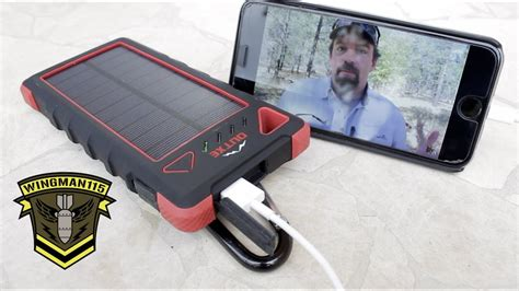 Power Mobil A outxe mobile power supply with solar panel