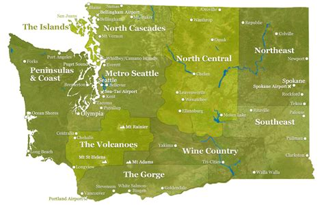washing state map washington state map experiencewa