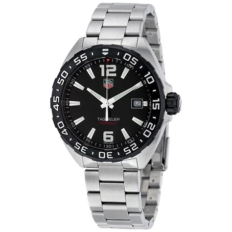 tag heuer watches tag heuer formula 1 black dial men s watch waz1110 ba0875