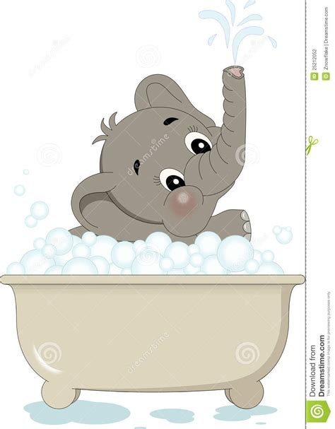 elephant in the bathtub splashing elephant in bath stock photography image 25212052
