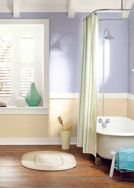 this neutral rustic bathroom look is complete with behr noble purple powdered gold and silky