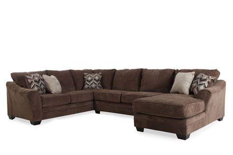 Sectional Sofas Furniture Three Contemporary 101 Quot Sectional In Brown