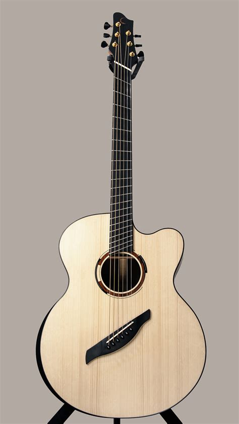 The Barytone Fan Fret Acoustic Guitar By Franck Claise