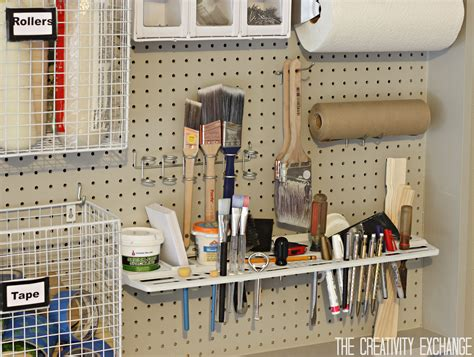 peg board ideas organizing the garage with diy pegboard storage wall