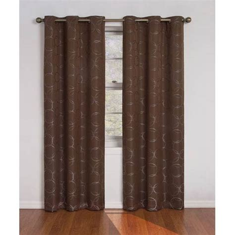 42 inch curtains eclipse meridian chocolate 42 inch x 84 inch blackout