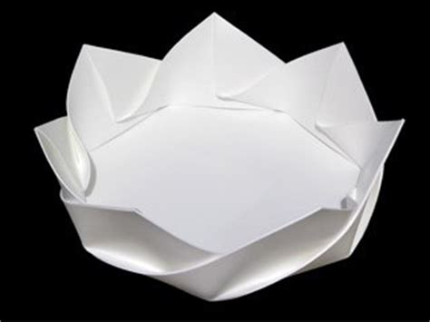 How To Make Paper Dish - fold origami dish ponoko ponoko
