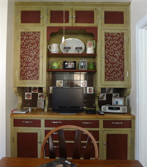 vintage butlers pantry cabinets traditional kitchen