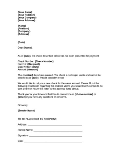 Stop Payment Request Letter Stop Payment Check Recipient Template
