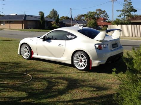 frs toyota black cool rally inspired white toyota 86 with aero kit and
