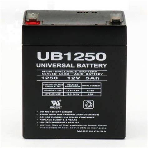12 volt 5 ah security alarm battery replaces 12v 4ah adi