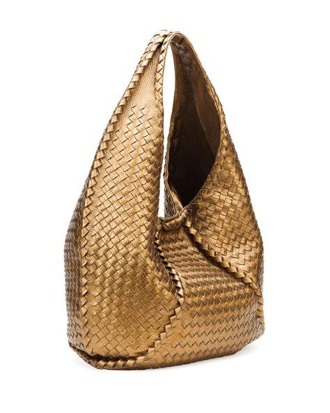 New Style Bra Bag Metalic Dengan Kancing lyst bottega veneta cervo large metallic hobo bag bronze