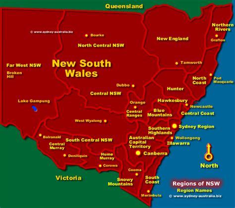 map of nsw australia nsw regions map australia tourist information