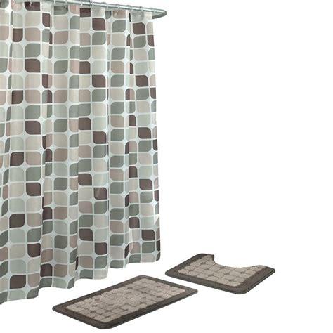rug and curtain sets bath fusion zaragoza linen chocolate 15 piece bath rug and