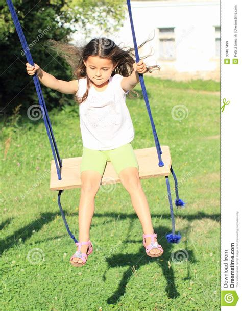 swing t girl on swing royalty free stock images image 33487499