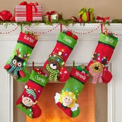 creative personalization tangled in lights led stocking