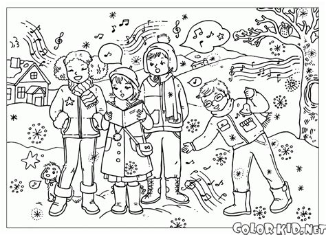 holiday music coloring pages coloring page winter landscape